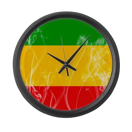 Rasta Colors Large Wall Clock