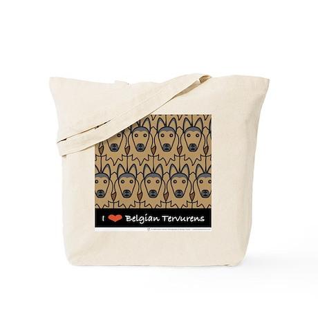 I Love Belgian Tervurens Tote Bag