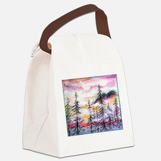 Landscape, colorful art! Canvas Lunch Bag