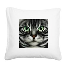 Tabby Square Canvas Pillow