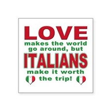 "Italian Pride Square Sticker 3"" x 3"""