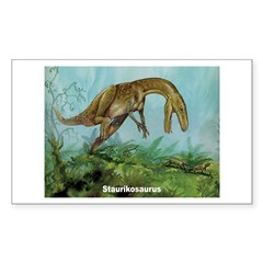 Staurikosaurus Dinosaur Rectangle Decal