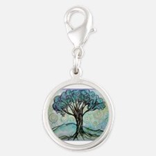 tree ! tree of life, art! Silver Round Charm