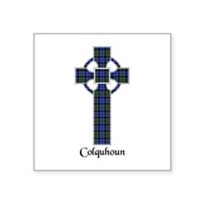 "Cross - Colquhoun Square Sticker 3"" x 3"""