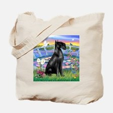 Lilies and Schnauzer Tote Bag