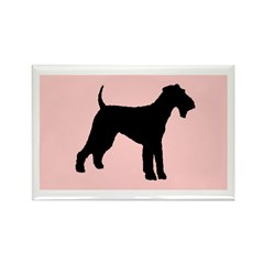 airedale terrier dog pink Rectangle Magnet (10 pac