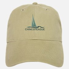 Assateague Island MD - Sailboat Design. Baseball Baseball Cap