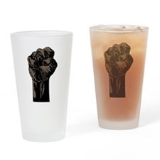 Cute Black power fist Drinking Glass