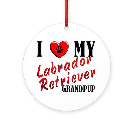 Love My Lab Grandpup Ornament (Round)