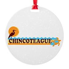 Chincoteague Island MD - Beach Design. Ornament