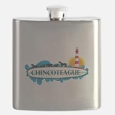 Chincoteague Island MD - Surf Design. Flask