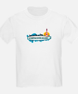 Chincoteague Island MD - Surf Design. T-Shirt