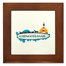 Chincoteague Island MD - Surf Design. Framed Tile