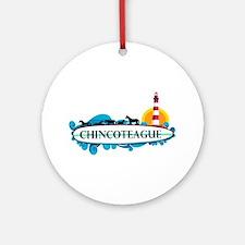 Chincoteague Island MD - Surf Design. Ornament (Ro