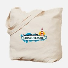 Chincoteague Island MD - Surf Design. Tote Bag