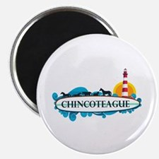 Chincoteague Island MD - Surf Design. Magnet