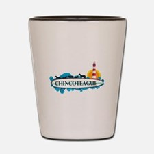 Chincoteague Island MD - Surf Design. Shot Glass