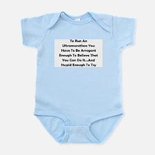 Ultramarathon Saying Infant Bodysuit