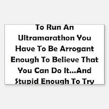 Ultramarathon Saying Decal