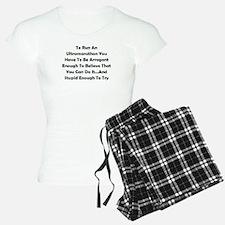 Ultramarathon Saying Pajamas