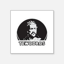 "tewodros Square Sticker 3"" x 3"""