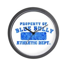 Property of Blue Bully Wall Clock