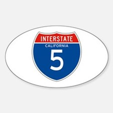 Interstate 5 - CA Oval Decal