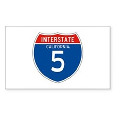 Interstate 5 - CA Rectangle Decal