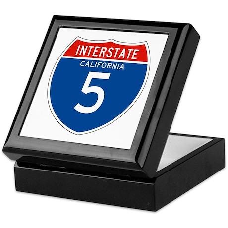 Interstate 5 - CA Keepsake Box