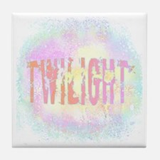 Twilight Pink Ice by Twibaby Tile Coaster