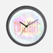 Twilight Pink Ice by Twibaby Wall Clock