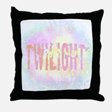 Twilight Pink Ice by Twibaby Throw Pillow