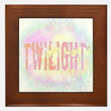 Twilight Pink Ice by Twibaby Framed Tile
