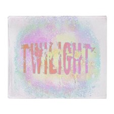 Twilight Pink Ice by Twibaby Throw Blanket