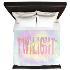 Twilight Pink Ice by Twibaby King Duvet