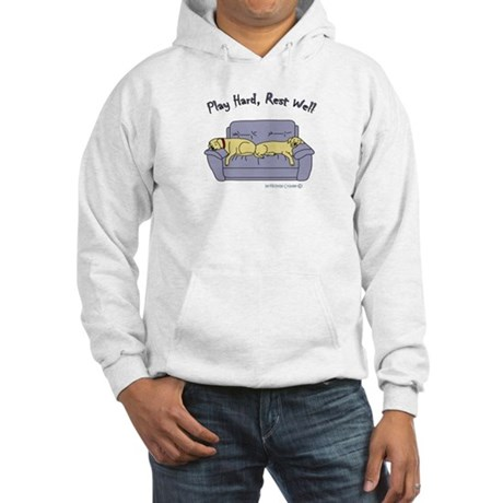 play Hard Rest Well-two yellow labs Hooded Sweatsh