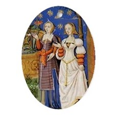 Medieval Ladies Oval Ornament