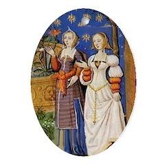 Medieval Ladies Oval Ornament