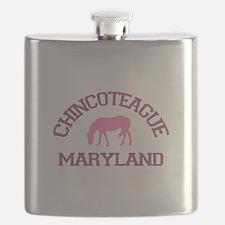 Chincoteague Island MD - Ponies Design. Flask