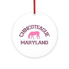 Chincoteague Island MD - Ponies Design. Ornament (