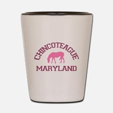 Chincoteague Island MD - Ponies Design. Shot Glass