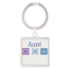 Crafty Aunt Square Keychain