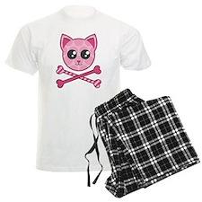 Kawaii Kitty Crossbones Pajamas