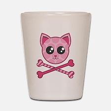 Kawaii Kitty Crossbones Shot Glass