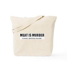 Meat is Murder Tote Bag
