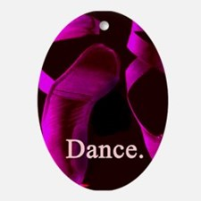 Hot Pink Pointe Shoes Dance. Ornament (Oval)