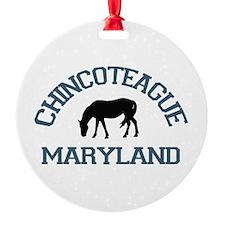 Chincoteague Island MD - Ponies Design. Ornament