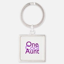 One Cool Aunt Square Keychain