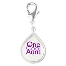 One Cool Aunt Silver Teardrop Charm