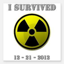 End of the world / apocalypse survivor Square Car